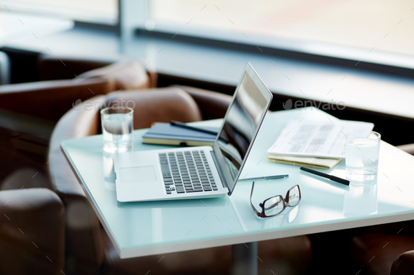 Laptop on workplace - Stock Photo - Images