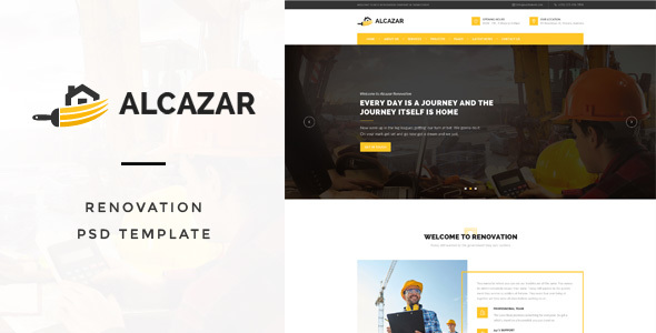 Alcazar – Renovation & Building PSD Template