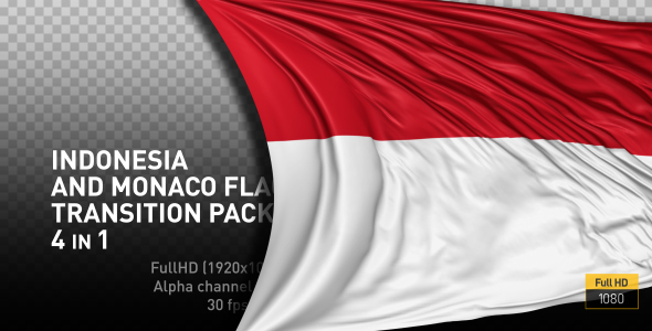 indonesia and monaco flag transitions by bestsettings videohive