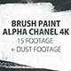 16 Paint Brush Stroke Transitions Reveal Pack Matte/ Oil Art Dust Ink Grunge Texture/ Chalk Board - VideoHive Item for Sale
