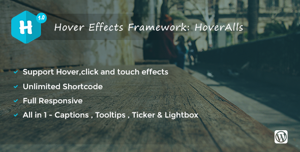 Hoveralls - Image Hover Effect Plugin For wordpress - CodeCanyon Item for Sale