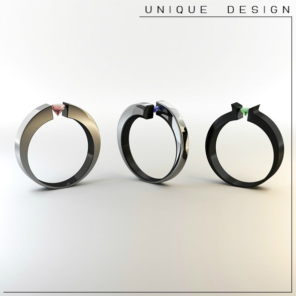 3D Rings - 3DOcean Item for Sale