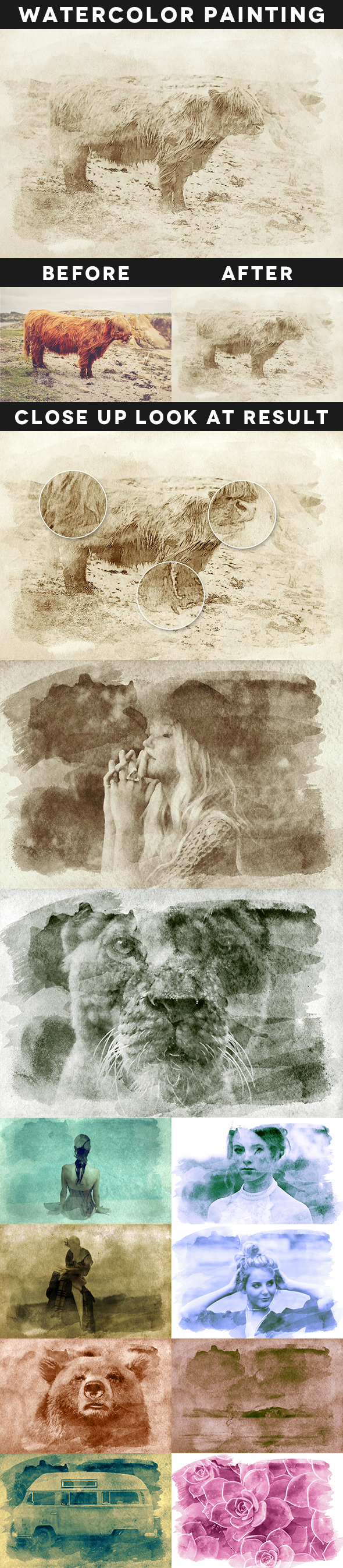 Creative Watercolor Painting Vol. 01 - Photo Effects Actions