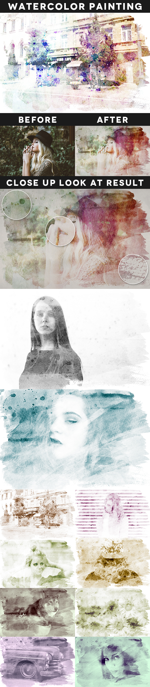 Creative Watercolor Painting Vol. 02 - Photo Effects Actions