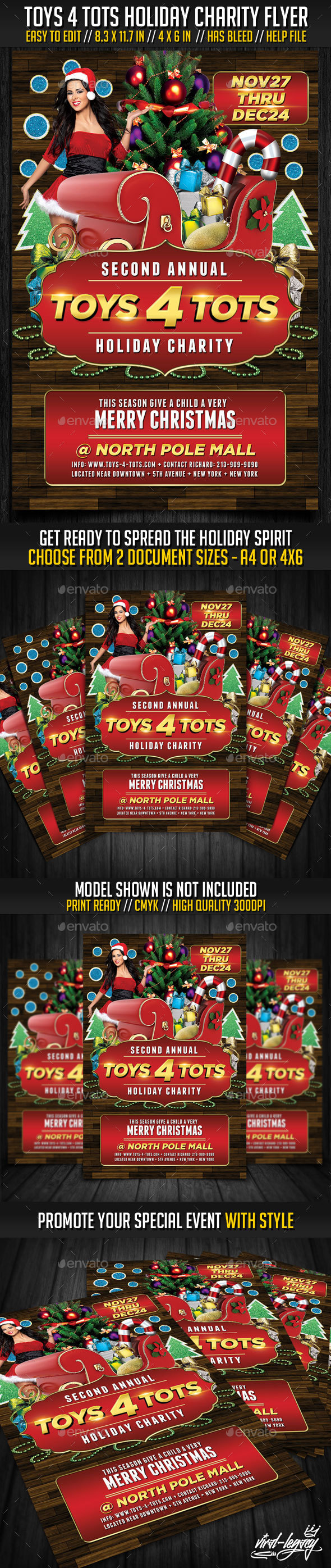 Printable Toys For Tots Logo : Toys tots charity flyer v by viral legacy graphicriver