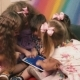 Small Children Play With The Tablet. - VideoHive Item for Sale