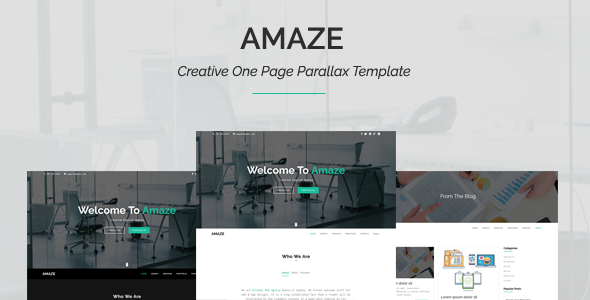 Amaze – Creative One Page Parallax Template