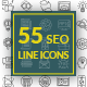 55 SEO Line Icons - GraphicRiver Item for Sale