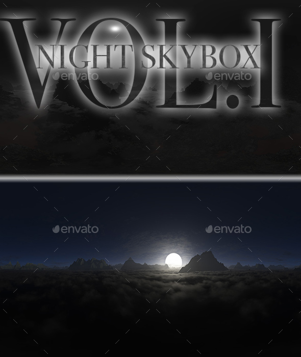 Night Skybox Pack Vol.I - 3DOcean Item for Sale