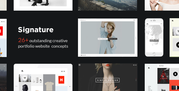 Signature - Multi-Purpose / Many Concept Creative Portfolio WordPress Theme
