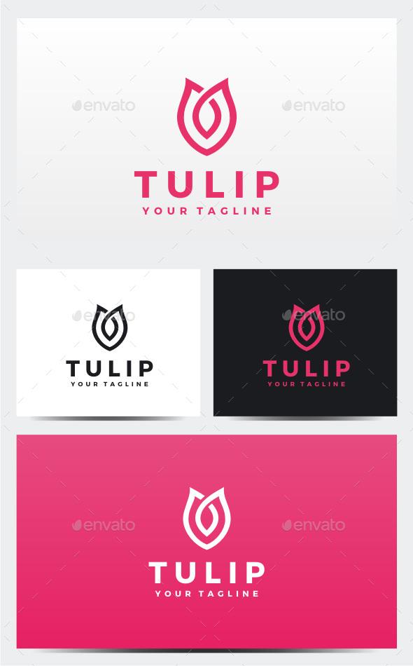 Tulip Logo - Nature Logo Templates