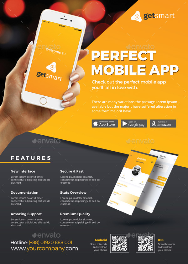 mobile app flyer by themedevisers