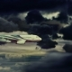 The Plane Is Flying In The Dramatic Clouds - VideoHive Item for Sale