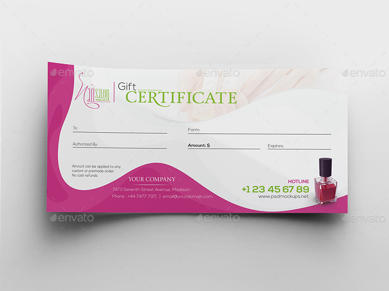 02 Nail%20Salon Gift%20Certificate Name%20Card Template Top Result 70 Unique Nail Gift Certificate
