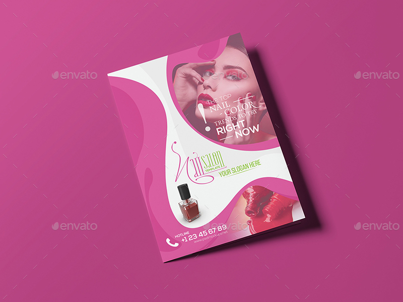 Nail Salon A5 Brochure Template By Wutip2 Graphicriver