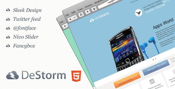Free Download DeStorm Premium Landing Page Nulled Latest Version