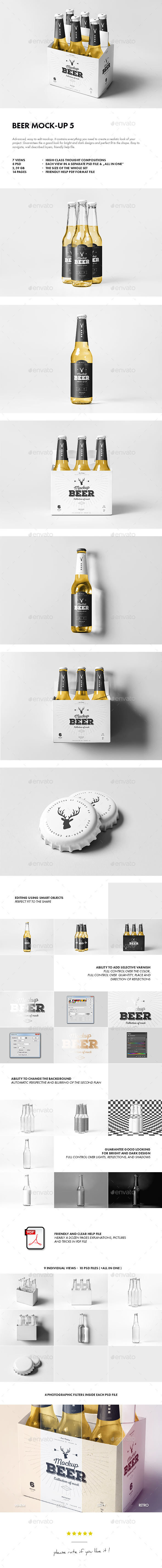 Beer Mock-up 5 - Food and Drink Packaging