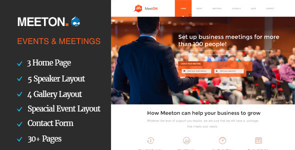 Meeton – Conference & Event Drupal Theme