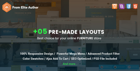 Furnicom – Responsive Magento Furniture Theme