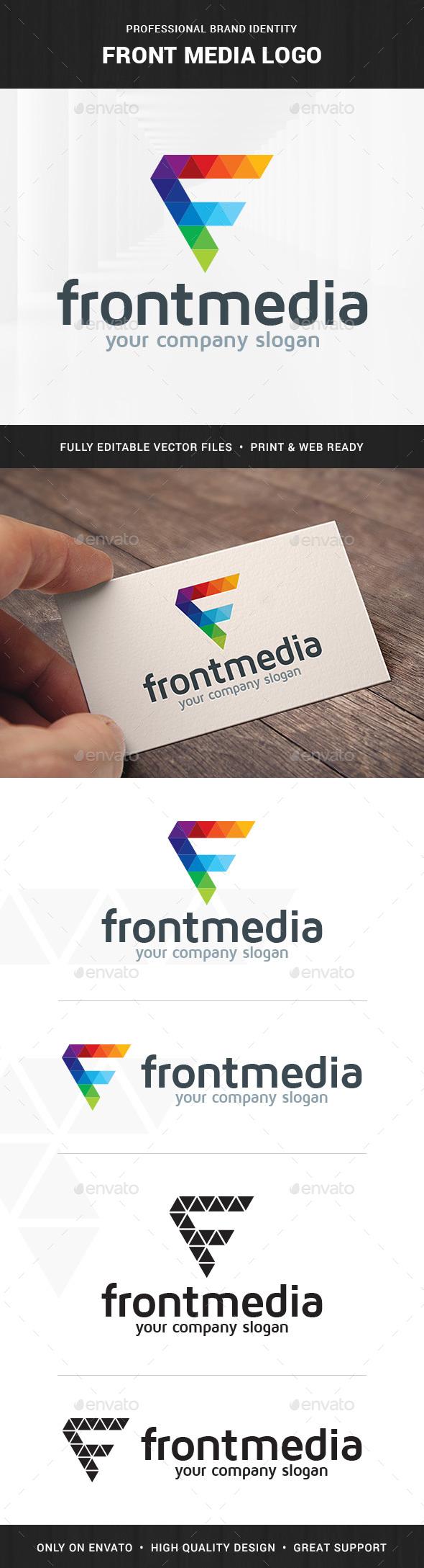Front Media - Letter F Logo - Letters Logo Templates