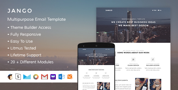 Jango - Responsive Email + StampReady Builder - Email Templates Marketing