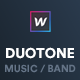 Music & Band Webflow Website Template — Duotone