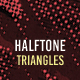 Halftone Triangle Backgrounds - GraphicRiver Item for Sale