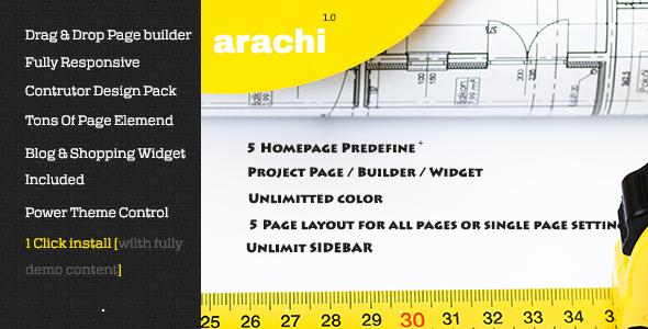 Arachi - Construction, Corporate Business WP Themes