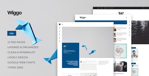 Wiggo - Multi-Concept PSD Theme - PSD Templates