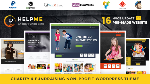 HelpMe – Nonprofit Charity WordPress Theme