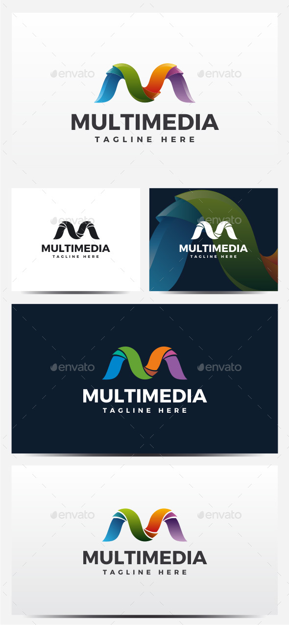 Multimedia - Letter M Logo - Abstract Logo Templates