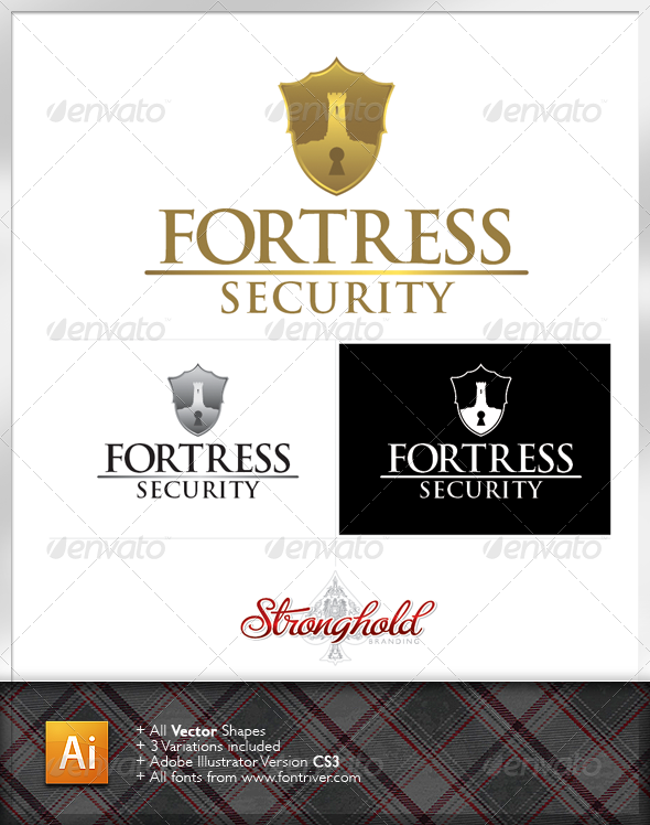Fortress Security Logo - Crests Logo Templates