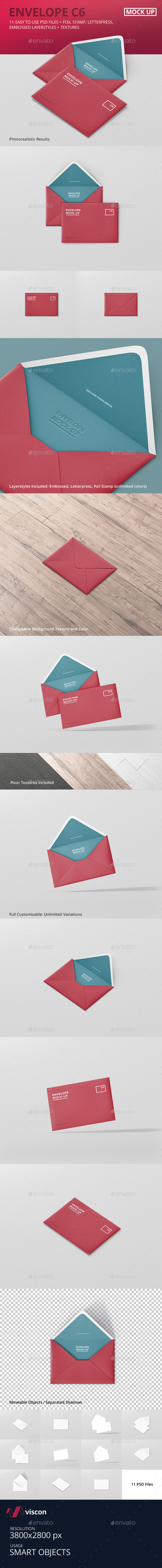 Envelope C6 Mock-Up - Stationery Print
