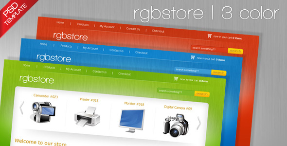 RGBStore – Ecommerce PSD Template