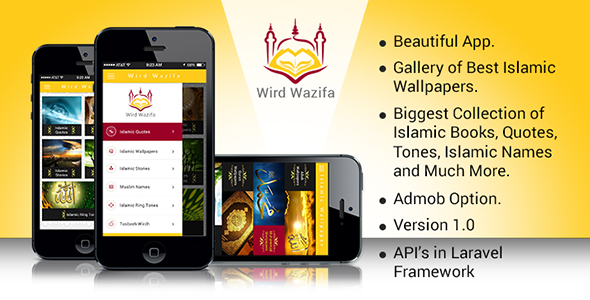 Wird Wazifa Android App With Laravel admin Panel - CodeCanyon Item for Sale