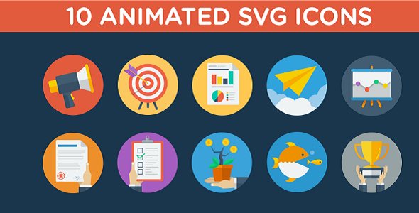 Animated SVG Business Strategy Icons - CodeCanyon Item for Sale