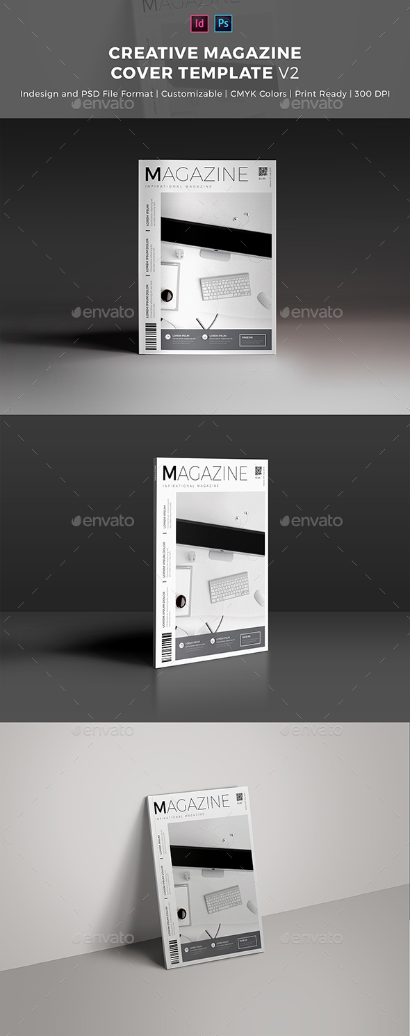 Creative Magazine Cover Template - Magazines Print Templates