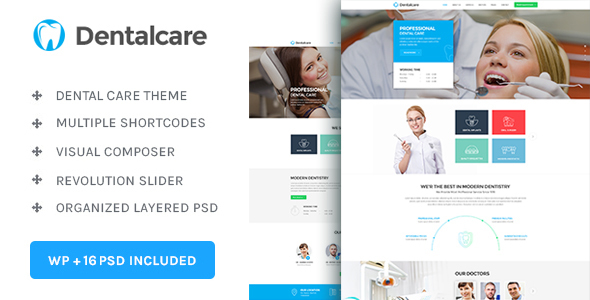 Dental Care : Medical – Dentist – Health WordPress Theme