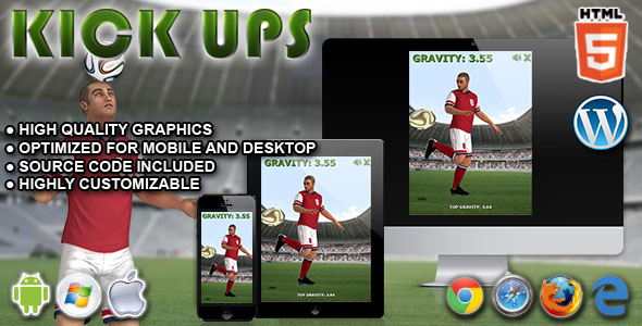 Kickups - HTML5 Game - CodeCanyon Item for Sale