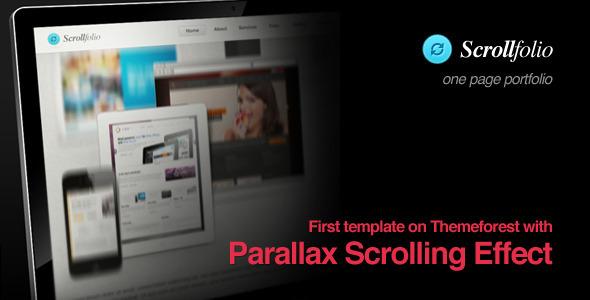 Scrollfolio - Parallax Scrolling Effect portfolio