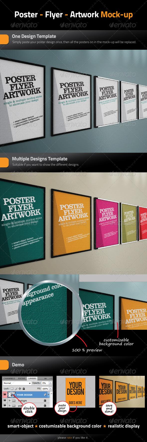 Poster - Flyer - Artwork Mock-Up - Posters Print