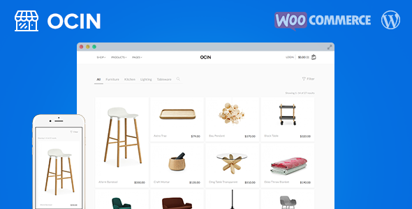 Ocin – Responsive WordPress WooCommerce Theme