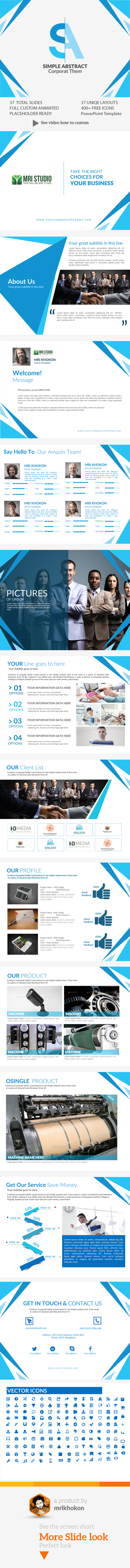 Simple abstract power point presentation template by mrikhokon simple abstract power point presentation template abstract powerpoint templates toneelgroepblik Choice Image