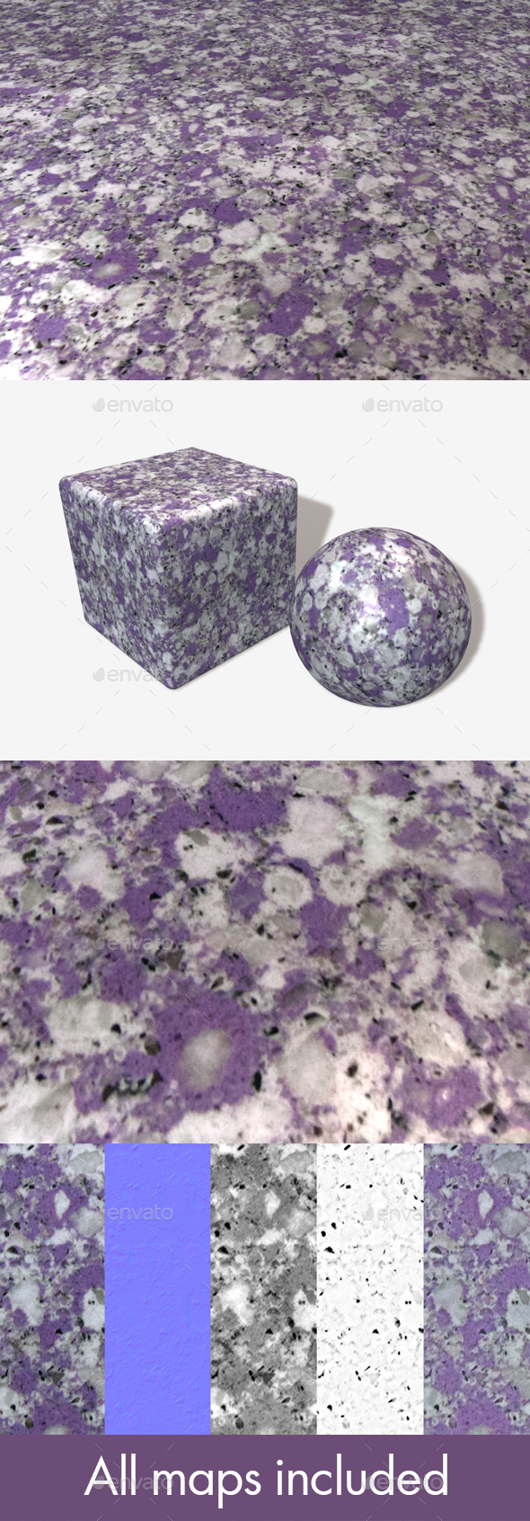 Purple Marble Seamless Texture 2 - 3DOcean Item for Sale