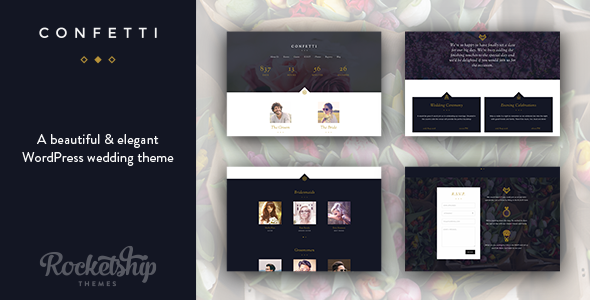 Confetti – Wedding WordPress Theme