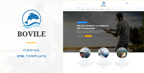 Bovile – Fishing HTML Template