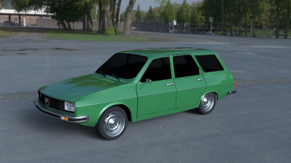 Renault 12 / Dacia 1300 Estate HDRI - 3DOcean Item for Sale