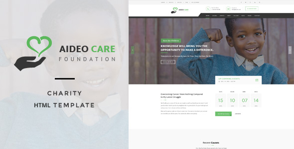 Aideo – Non-Profil Charity HTML Template