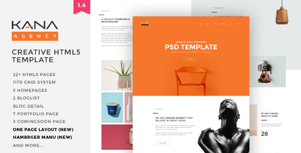 Kana - Creative Agency HTML5 Template - Creative Site Templates