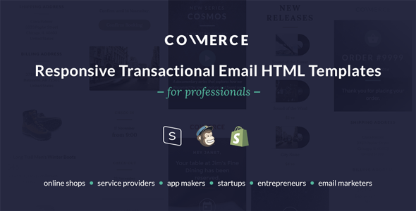 Commerce - Responsive Transactional Email HTML Templates